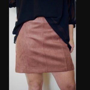 NWT Faux Suade Mini Skirt